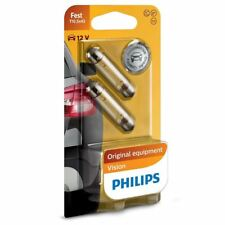 PHILIPS Halogen Vision 12V 10W SV8,5 T10,5x43 Glühbirne 12866B2 Set