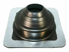 Aztec ROOF FLASHING 100x100mm Base, Suits 0-50mm Pipe, Black EPDM *USA Brand