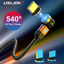 540° Magnetic Usb Phone Cable Type C Micro Usb for iPhone Samsung Huawei HTC LG