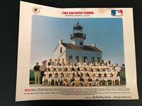 1982 SAN DIEGO PADRES 14x11 Team Photo - Union Tribune