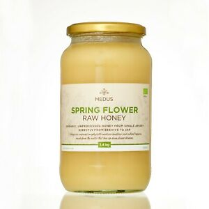 Organic SPRING Flower Honey RAW UNPROCESSED PURE NATURAL Unpasteurized