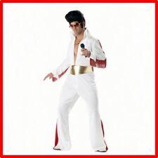 Mens Elvis Presley Rock & Roll King 50s Rock & Roll Star Elvis Jumpsuit Costume