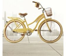 """Huffy Nel Lusso Classic Cruiser Bike with Perfect Fit Frame, Yellow 26"""""""