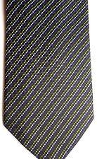 "Alexander Julian Men's Silk Tie 58"" X 3.75"" Multi-Color Dotted British Stripes"
