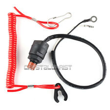 Outboard Engine/Motor Scooter ATV Kill Stop Switch + Safety Tether For Yamaha