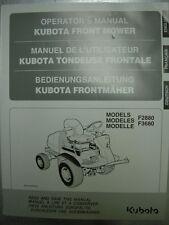 Kubota F2880 & F3680 operators manuel