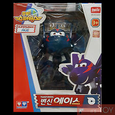 Super Wings ACE CHACE Transforming Spy Air-plane Robot Toy figure 13cm Season 2