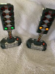 Children  Disney Toy Set Of Race Car Trsffic Light Preowned