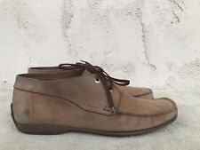eb9adc637b4 New ListingSALVATORE FERRAGAMO Brown Leather Square Toe Lace-up Ankle Boots  Mens 11 D Italy