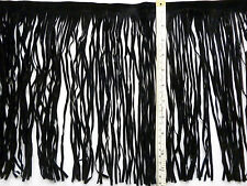 Fringing, Tassels, Black, Suedette, 30cm / 12 inches Long