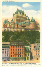 Chateau Haldimand Frontenac Lower Town Quebec Canada Postcard Hotel