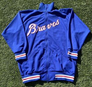 Atlanta Braves Mitchell and Ness Cooperstown Collection MLB Full Zip Jacket 2XL