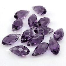 10pcs Faceted Crystal Teardrop Cut Beads fit Bracelet Necklace DIY Jewelry 12mm