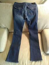 TRUE RELIGION Disco Becky Distressed Boot Cut Flap Pocket Jeans Size 28 Women's