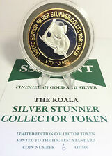 "Koala 43 mm ""SILVER STUNNER"" Collector Token, COIN, LTD to 500, $50 at the Mint"