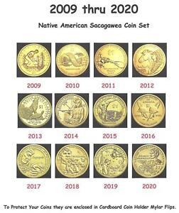 2009-2020 Native American Sacagawea Dollar Set - 12 BU Uncirculated Mint Coins