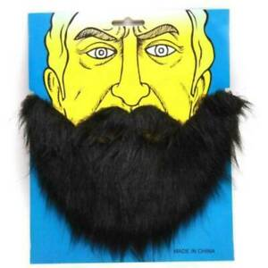 Adult Fake Facial Hair Black Beard And Moustache Mustache Costume Accessory NEW~