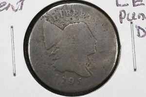 1795 Liberty Cap Half Cent, Pole, Lett. Edge, Punct. Date, About Good
