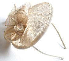 New Ivory cream flower cap sinamay aliceband fascinator wedding races ascot prom