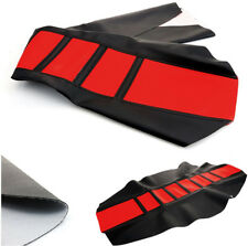 Leather Rubber Gripper Soft Motorcycle Seat Cover For YZF CRF KTM SUZKI Off Road