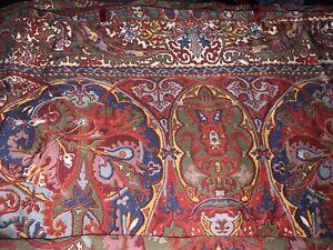 Ralph Lauren GALAHAD  RED Full/Queen  Duvet / Comforter Cover Rare  Sateen!