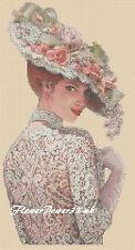Cross stitch chart  Victorian Lady - No 327b FlowerPower37-uk