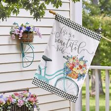 "Life Is a Beautiful Ride 28"" x 40"" Double-Sided House Flag - Spring Decor"