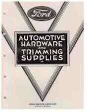 1928-34 Auto Trim Hardware Book