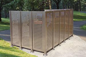 Edelstahl-Element für Mülltonnenumrandung, NEU, Mülltonnensichtschutz