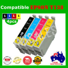 4x T138 138 T1381 1381 ink cartridge For Epson WF3520 WF3530 WF3540 WF7510 7520
