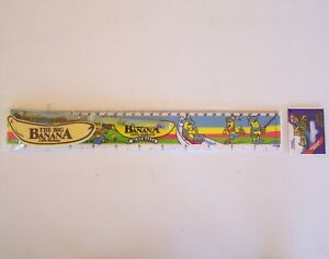 VINTAGE BIG BANANA COFFS HARBOUR AUSTRALIA RULER + PENCIL  ERASER STATIONERY SET