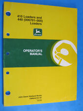 John Deere 410 440 Loaders Operator'S Manual Oem Factory Original