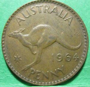 1961 Australia 1d One Penny ** ERROR OFF CENTRE ** #2124b =NICE LUSTRE=