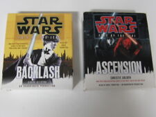 Star wars book novel on cd audiobook lot ascension Backlash fate of the jedi WOW