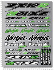 ZX-12R Ninja racing motorcycle decals stickers set fairing zx12r ZXR Laminated