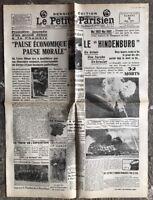 N44 La Une Du Journal Le Petit Parisien 8 Mai 1937