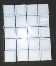 20 Pieces Plastic Boxes in one packet To Keep Loose Gems eBay Billion White
