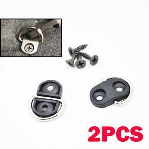 2PCS Tie Down Hook Loop Clips Ring Screws For Rear Trunk Boot Cargo Floor Net