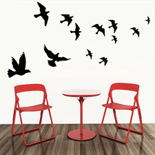 Wall Decals Black Fly Birds Mural Stickers Removable Home Room Decor Viny Gift