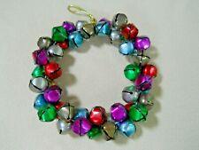 Vintage 46 Metal Sleigh Bell Christmas Wreath