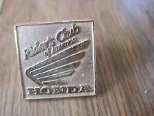 "Riders Club of America Honda Lapel Hat Pinback Pin Back 3/4"""