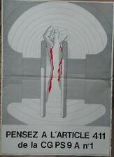 affiche sécurité SNCF 50 - PROTEZGEZ-VOUS, pensez article 411 CGPS 9A N° 1