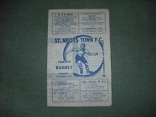ST NEOTS TOWN  V  BARNET  (ML)  21-8-65    FOUR PAGER