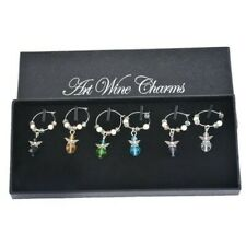 Set of 6 Angel Wine Glass Charms Pendant Drink Markers