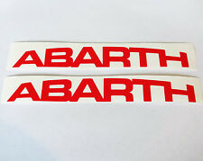 2 X Rouge Abarth Logo Vinyle Stickers Voiture decal FIAT 500 PUNTO