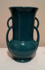Vintage green pottery vase marked U S A