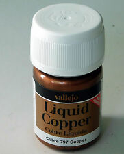 Vallejo Synthethic Resin Acrylic Model Paint Liquid COPPER 797 35ml Bottle 70797