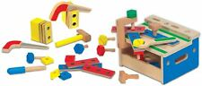 Melissa & Doug HAMMER AND SAW TOOL BENCH Mini Wooden Playset Child/Kids BNIP