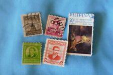 5  Philippines used postage stamps philately postal mail Philatelic kiloware