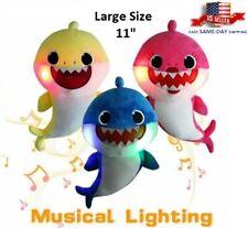 """11"""" Baby Shark Plush Singing Lighting Led Musical Sound Song Doll Kids Gift Toys"""